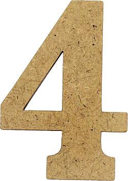 """Цифра 5см """"4"""" МДФ 3мм(5)"""