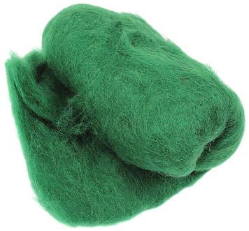 Вовна для валяння кардочесана,темно-зелена 40г №K500740/Rosa Talent/