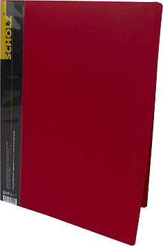 """Папка Scholz"""" №06504 A4 з 60ф. PP червона(1)(12)"""