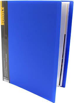 """Папка """"Scholz"""" №06504 A4 з 60ф. PP синя(1)(12)"""