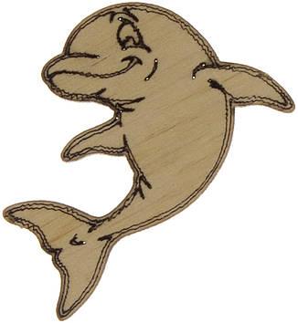 Дельфін 4х3см фанера(5)