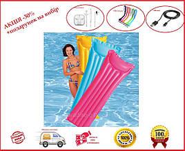 Розовый матрас для пляжа Intex