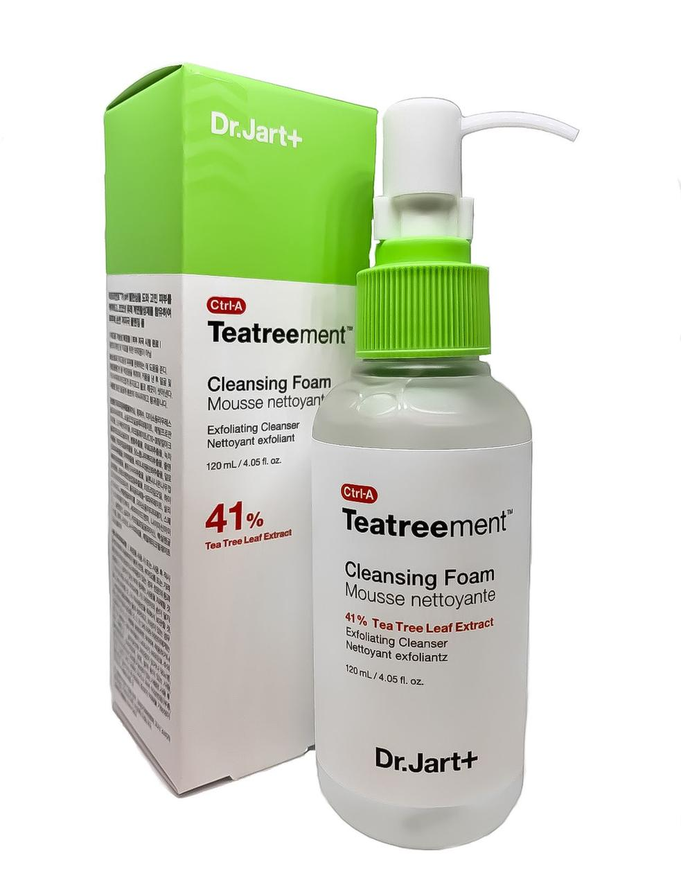 Лечебная пенка для умывания лица с чайным деревом Dr.Jart+ Ctrl-A Teatreement Cleansing foam