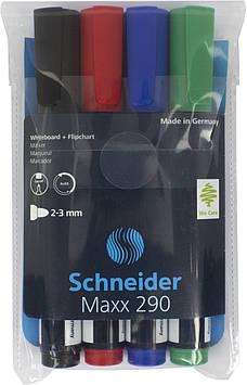 "Набір маркерів ""Schneider"" 290 №S129094 (4шт) 1-3мм для дошка"