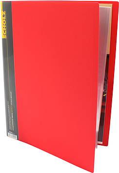 """Папка Scholz"""" №06501 A4 з 20ф. PP червона(1)(12)"""