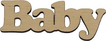 """Напис """"Baby"""" 3х8см фанера(5)"""