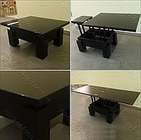 Стол-трансформер Optimus  черный/стекло