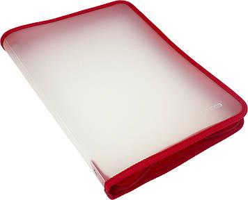 """Папка """"Economix"""" №E31644-03 A4 пласт. на блиск. (червона)(30)"""