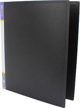 "Папка ""Economix"" №E30702-01  A4 на 4кільця  d-25мм (O) чорн.(1)(10)"