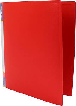 """Папка Economix"""" №E30702-03 A4 на 4кільця d-25мм (O) (червона)(1)(10)"""