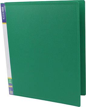 """Папка Economix"""" №E30702-04 A4 на 4кільця d-25мм (O) (зелена)(1)(10)"""
