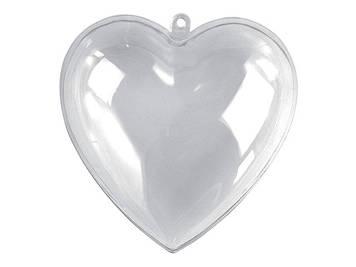 """Заготівля пластикова """"Серце"""" 10см №740888(5)"""
