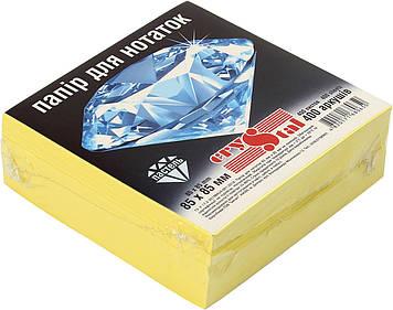"""Блок/заст. нкл 85х85мм 400арк. пастель жовтий """"Crystal"""" №0650(1)(40)"""