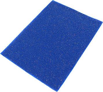 """Фетр м'який з глітером """"Santi"""" 21х30см синій №741808(10)"""