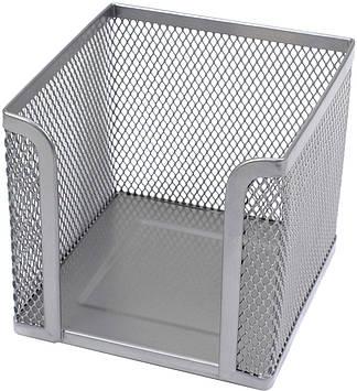"""Куб для паперу """"Axent"""" №2112-03 10х10х10см сріб.(12)"""
