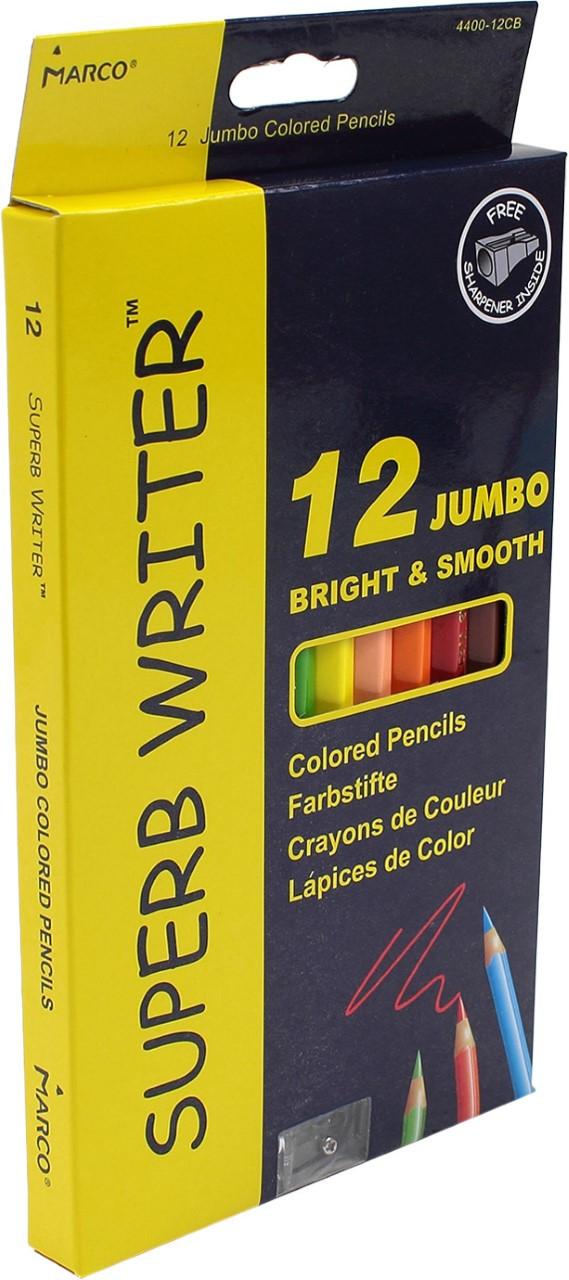 """Олівці кольор. 12 кольор. """"Marco"""" №4400-12CB Jumbo(12)(72)"""