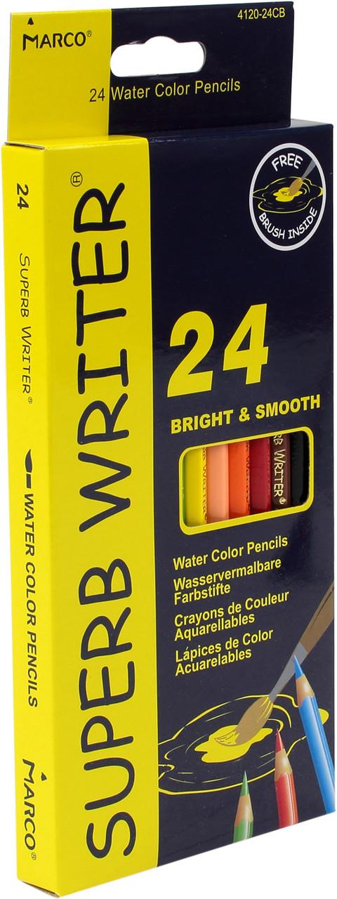 """Олівці кольор. 24 кольор. """"Marco"""" №4120-24CB аквар.(6)(120)"""