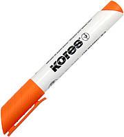 """Маркер """"Kores"""" №K20834 1-3мм для дошки помаранчевий(12)"""