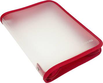"""Папка """"Economix"""" №E31645-03 B5 пласт. на блиск. (червона)(20)"""