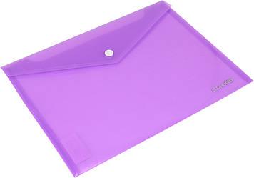 "Папка-конверт ""Economix"" №E31302-12 B5+ на кнопці фіолетова(12)(180)"