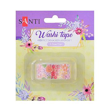 """Стрічка клейка декор. """"Santi"""" паперова Garden 1,5смх5м №742210"""