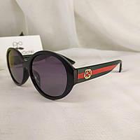 Женские стильные солнцезащитные круглые очки в пластиковой оправе Gucci