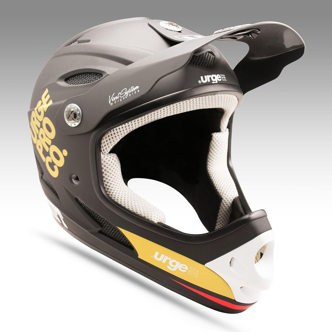 Велошолом Urge Drift чорно-золотий YM, 48-50см, підлітковий (ST)