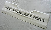 Toyota Hilux Revo 2014+ накладка внешняя на задний борт Revolution белая