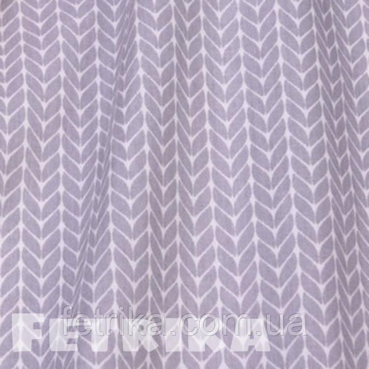 Ткань Сатин Серые косички