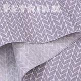 Ткань Сатин Серые косички, фото 3