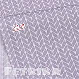 Ткань Сатин Серые косички, фото 2