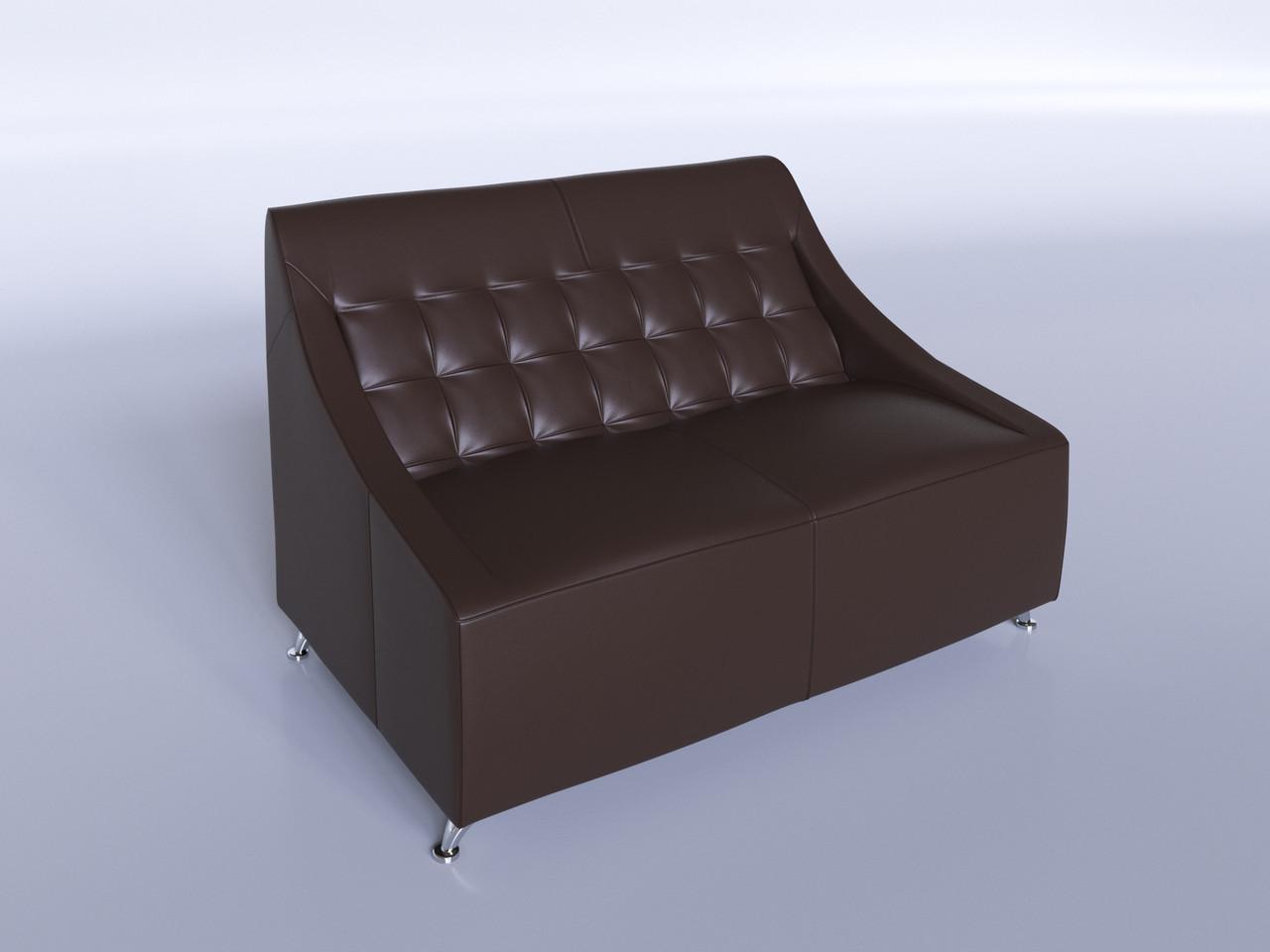 """Офисный диван """"Полис"""" коричневый"""