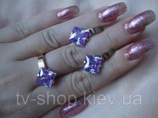 Наборы из серебра с золотом Цветные камни-1
