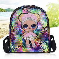 Рюкзак с пайетками и куклой Лол