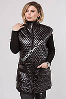 Женская  длинная жилетка черная 900, фото 1