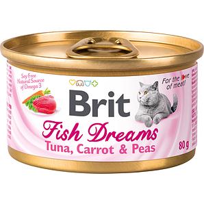 Консервы для кошек Brit Fish Dreams TUNA, CARROT & PEAS (тунец, морковь и горох)