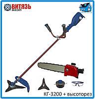 Электрическая коса Витязь КГ-3200 + насадка высоторез