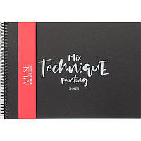 Скетчбук / альбом для смешанных техник рисования Muse Mix Technique А5 20 листов 240 г/м2 на спирали