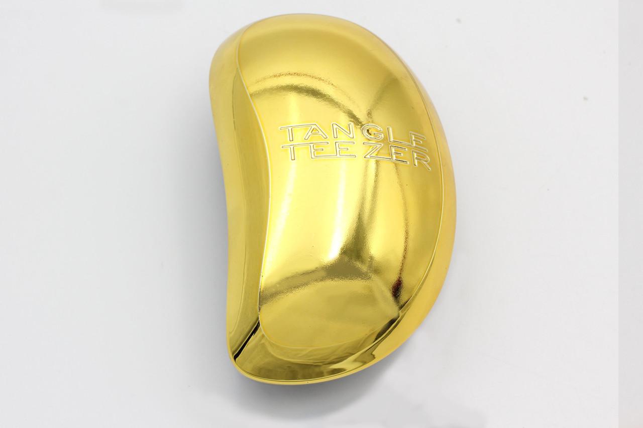 Антистатическая массажная щетка золотистого цвета для любых волос (18465-2)