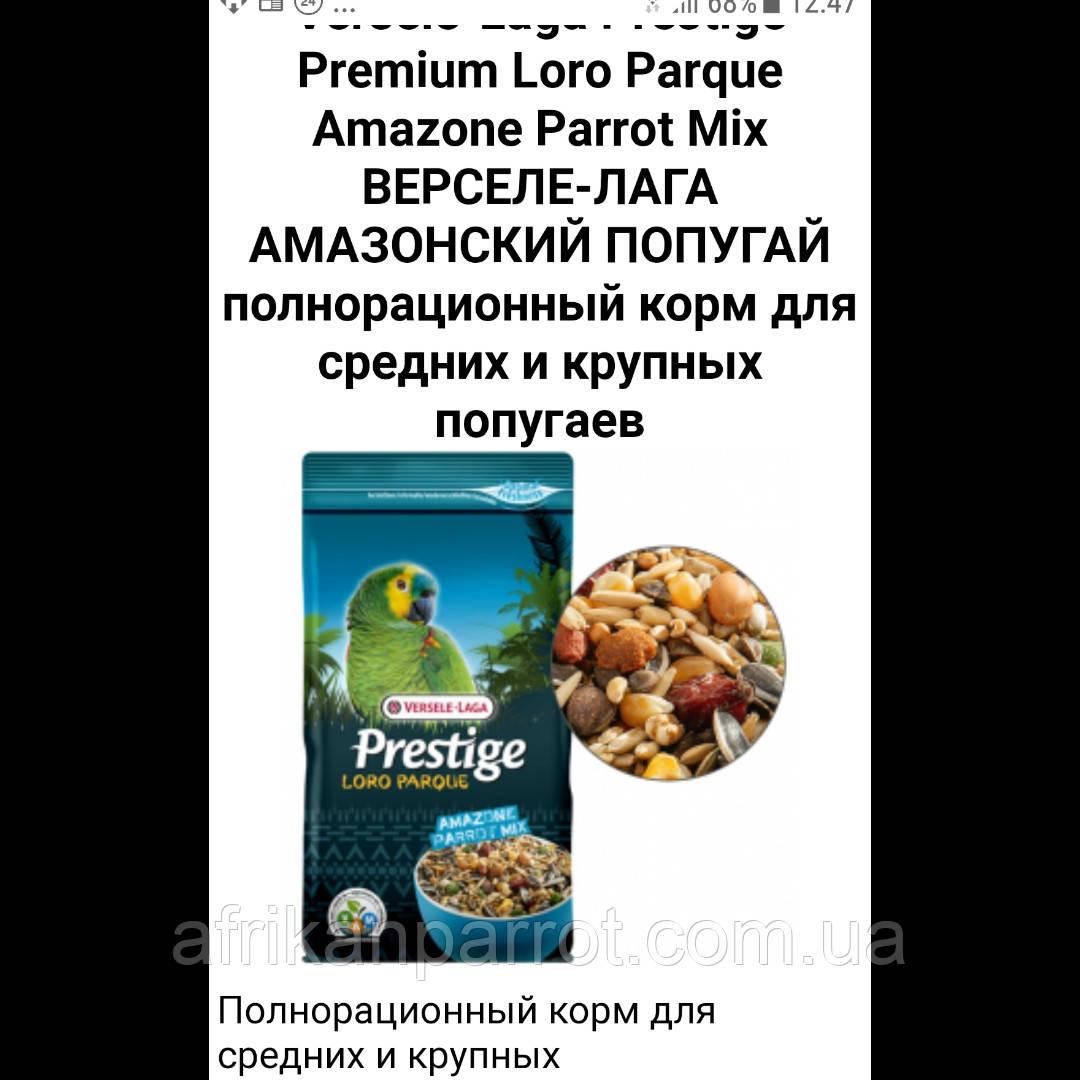 Верселе-Лага амазонский попугай1 кг
