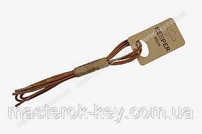 Шнурки для обуви KEEPER круглые вощенные 60 см цвет средне-коричневый