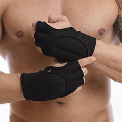 Перчатки-утяжелители 800г TA-1304 (неопрен, наполнитель-песок, черный)