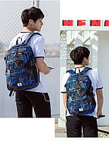 Школьный Рюкзак c usb Sankey городской портфель удобен для переноса мяча синий Код 13-7146