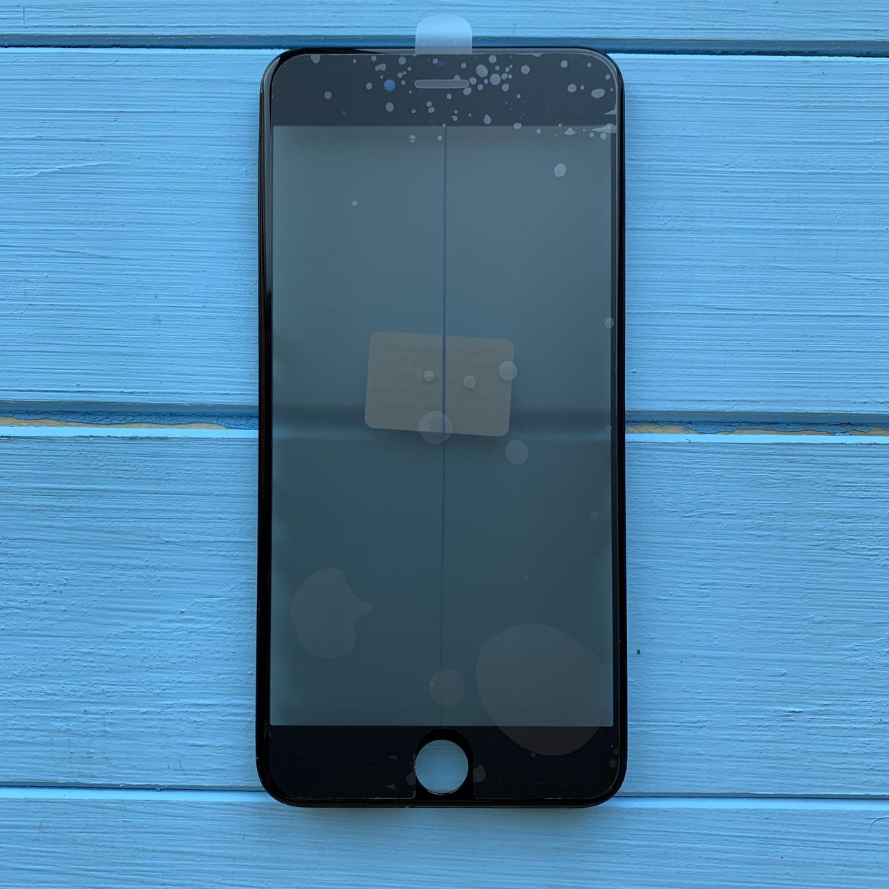 Стекло корпуса Apple iPhone 6S Plus с рамкой, OCA пленкой, поляризационной пленкой Black