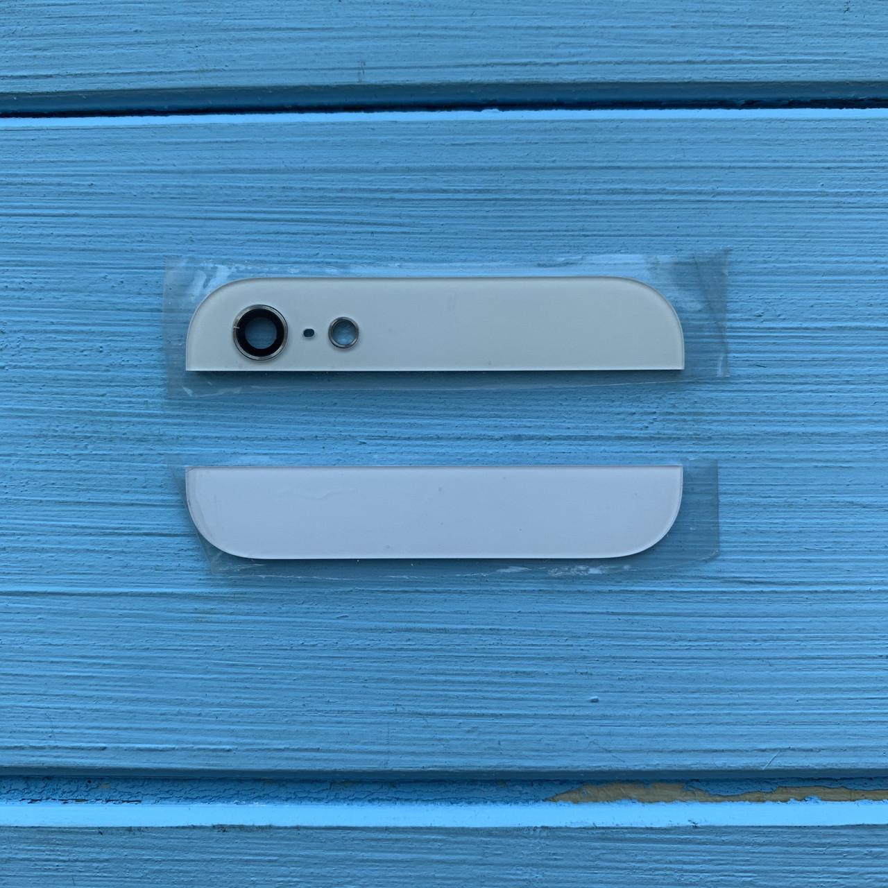 Стекло корпуса комплект(верхнее+нижнее) Apple Iphone 5 white