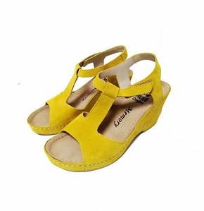 Женские босоножки, арт 597 желтый