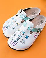 Ортопедическая обувь сабо с принтом DENTISTE, фото 1