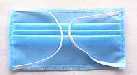 Маска из медицинской ткани , трёхслойная (50шт)