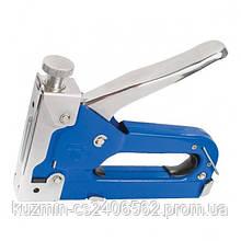 Механический скобозабивной пистолет под скобу (степлер) 11.3 * 0.70 * 4-14 мм (синий) INTERTOOL RT-0101