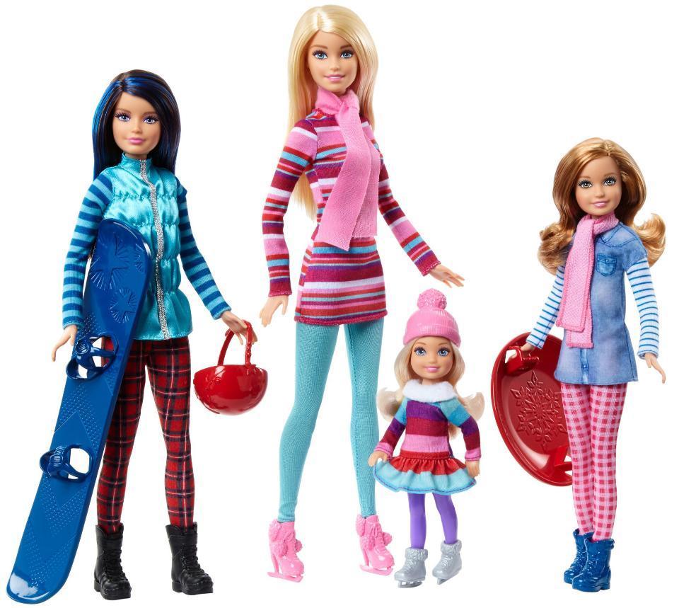 Ляльковий набір ігровий Барбі з сестрами на зимовому відпочинку